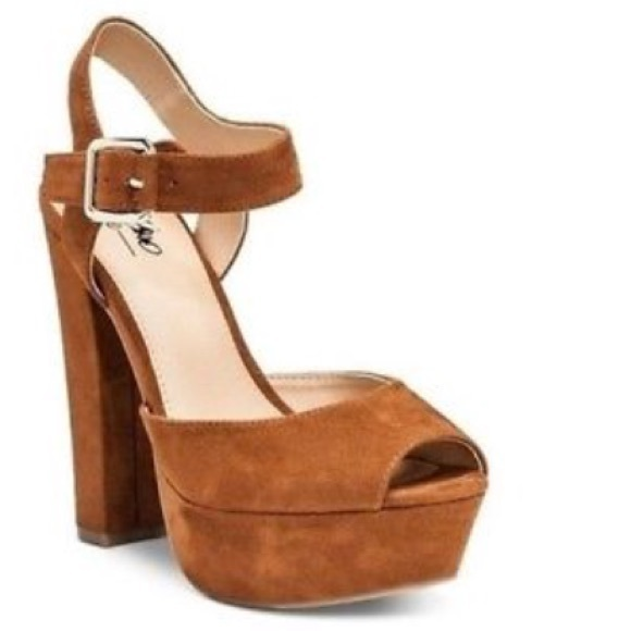 Mossimo Supply Co. Shoes - Brown Platform Open Toe Heels